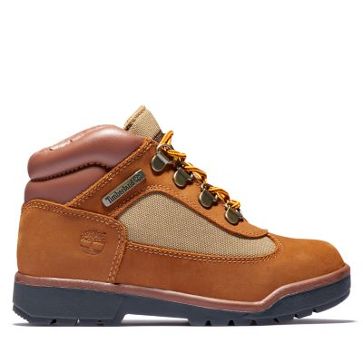 Junior Leather/Fabric Mid Field Boots