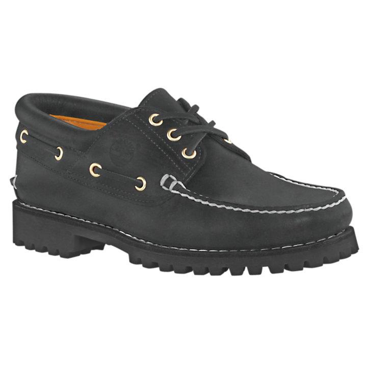 timberland 3eye classic lug boat chaussures noir nubuck