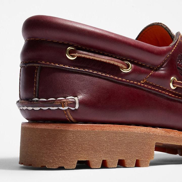 Timberland Men's Authentics 3 Eye Classic Lug Boat Shoe