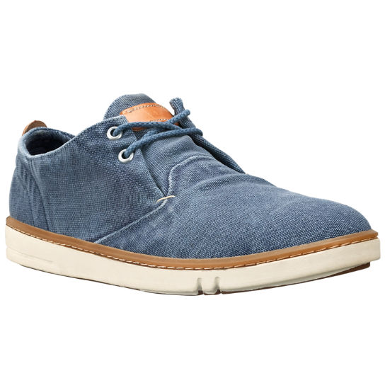 Timberland Earthkeepers Hookset Handcrafted Fabric Oxford Trainers in Blue  W898653