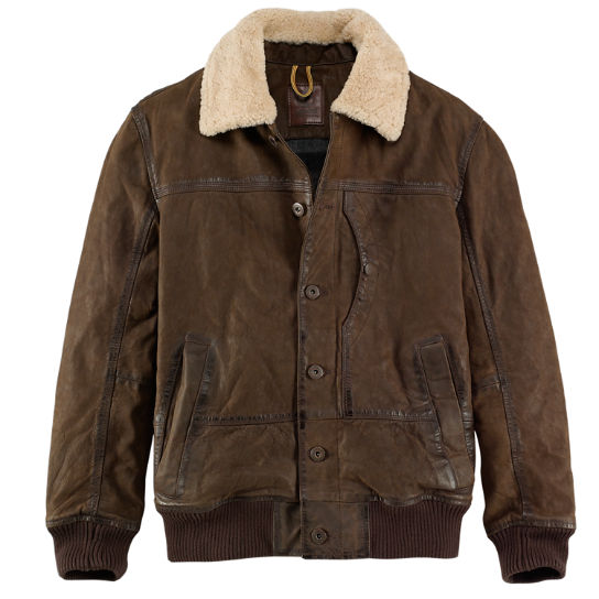 Men's Tenon Leather Bomber Jacket