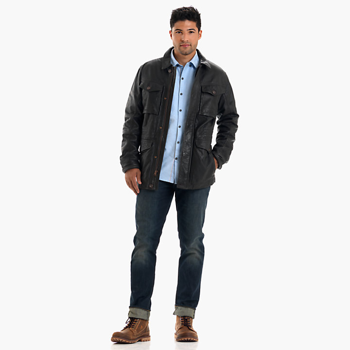 Men's Mount Major Leather Field Jacket-
