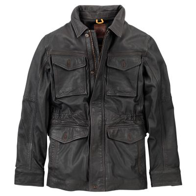 Men S Mount Major Leather Field Jacket Timberland Us Store