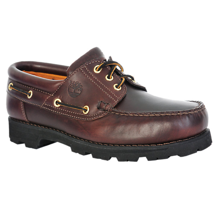 Men's Classic 3-Eye Leather Oxford Shoes-