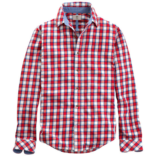 Men 39 s parker river slim fit flannel shirt timberland us for Mens slim fit flannel shirt