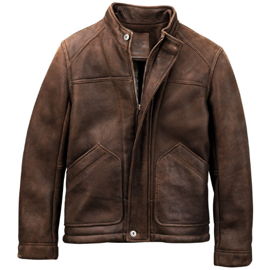Timberland | Men's Premium Shearling Leather Bomber Jacket