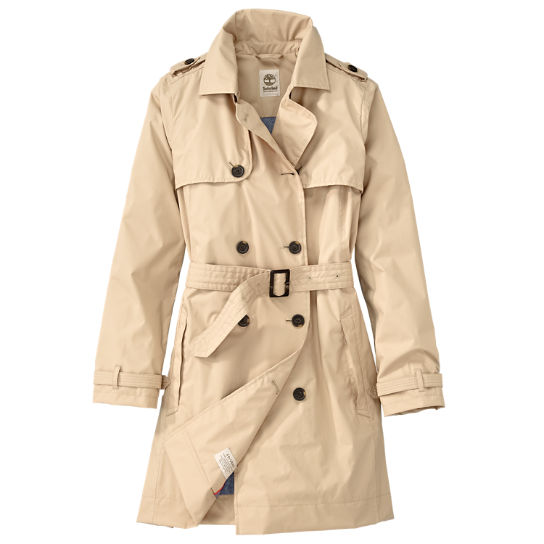 Enter the belted trench. These women's waterproof coats are a true essential for anyone who lives anywhere that sometimes rains. CARE INSTRUCTIONS: Machine wash cold. Use non-chlorine bleach only. Tumble dry low. Wash separately. Features: Dryvent® 2-Layer Waterproof Technology/5(3).