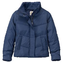 Timberland Womens Mount Madison Short Down Coat in Black Iris or Tornado Grey