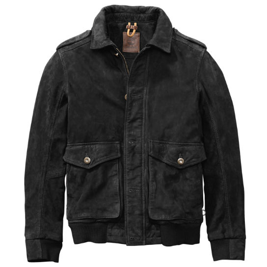 Timberland | Men&39s Tenon Leather Bomber Jacket