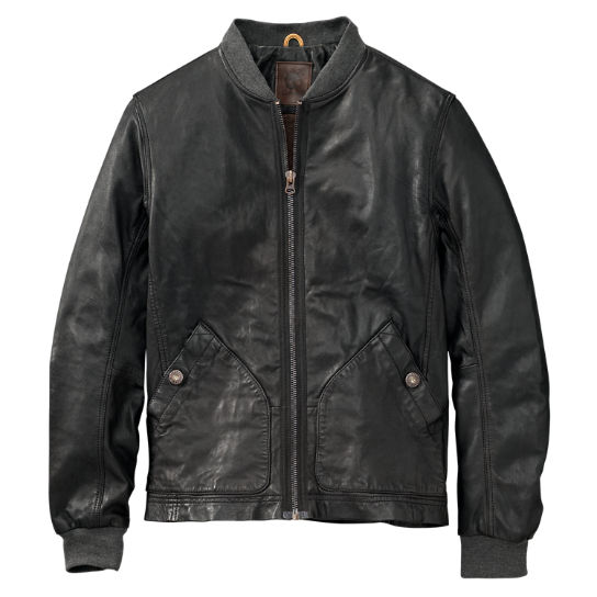 Men's Mount Webster Leather Bomber Jacket