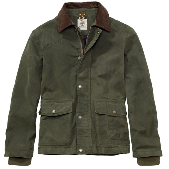 Men S Mount Lincoln Waxed Canvas Jacket Timberland Us Store