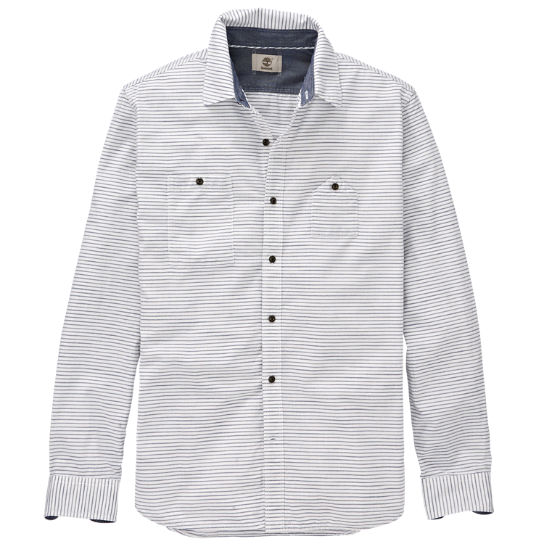 Men's Saco River Slim Fit Striped Oxford Shirt
