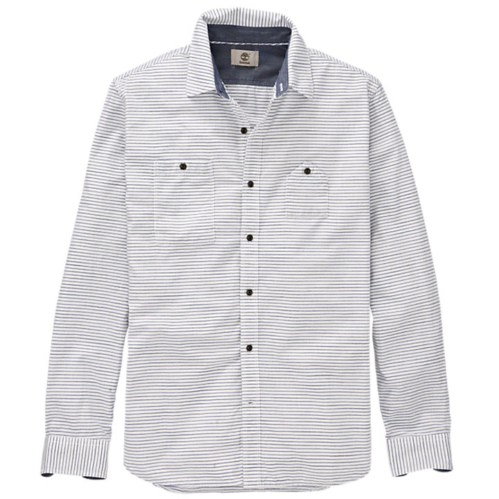 Men's Saco River Slim Fit Striped Oxford Shirt-