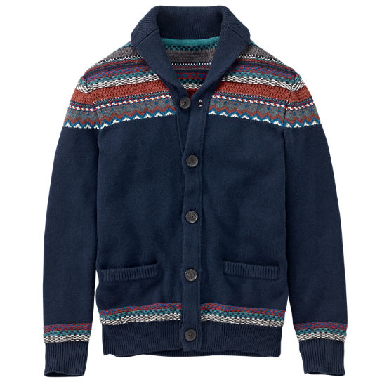 Timberland | Men's Knox River Fair Isle Cardigan Sweater