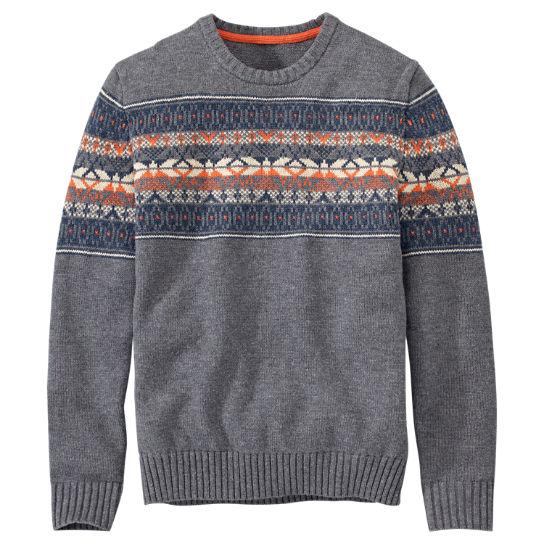 Timberland   Men's Cross River Fairisle Wool Sweater