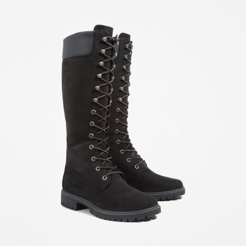Women's 14-Inch Premium  Lace Waterproof Boots-