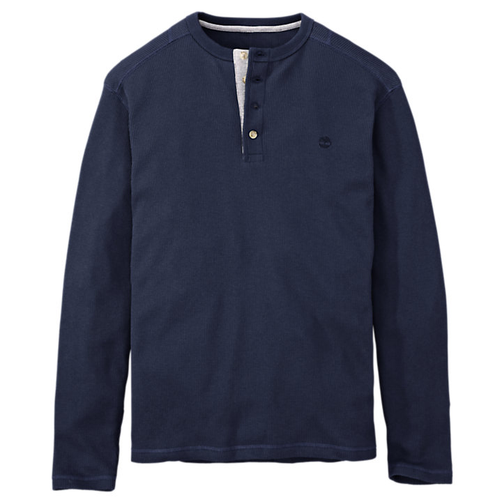 Men's Wharf River Waffle Henley Shirt-