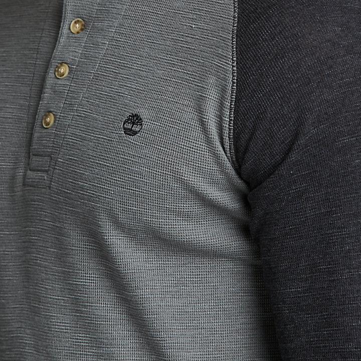 Men's Dyer River Slim Fit Waffle Henley Shirt-