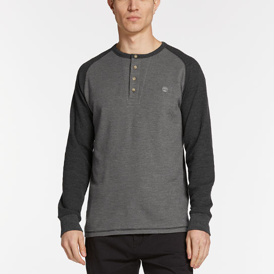 Men's Dyer River Slim Fit Waffle Henley Shirt