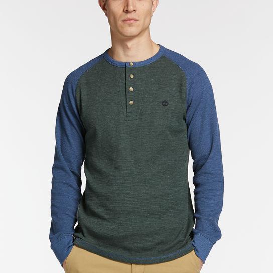 Men's Dyer River Slim Fit Waffle Henley Shirt