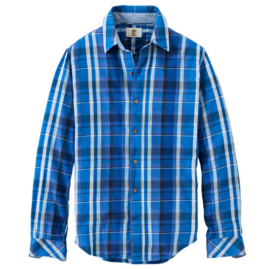 Timberland men 39 s parker river slim fit flannel shirt for Mens slim fit flannel shirt