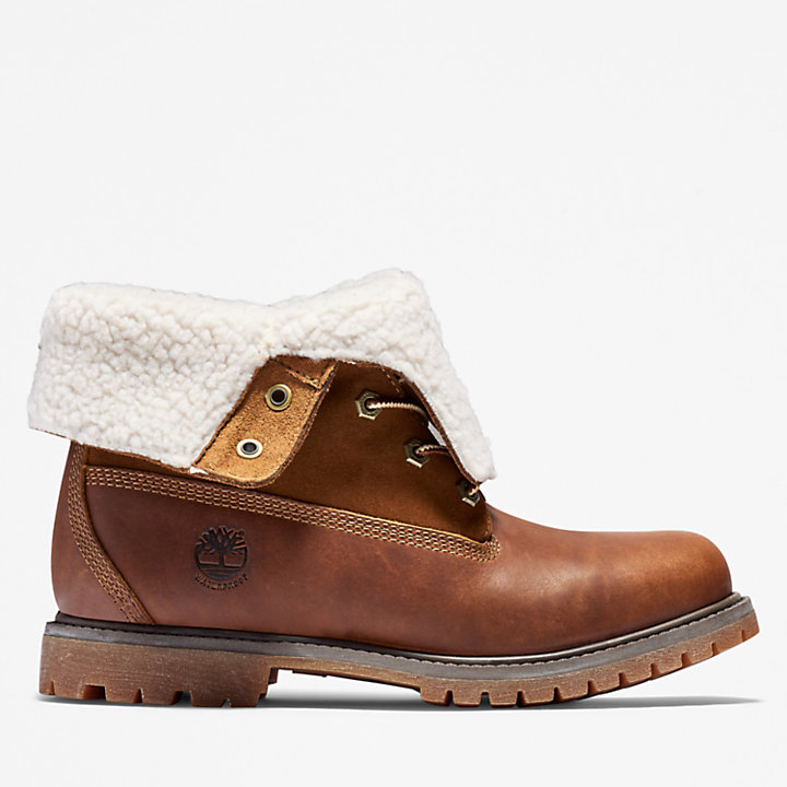 Timberland Womens Teddy Fleece Fold Down WP Ankle Boot