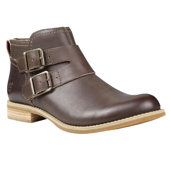 Women's Savin Hill Double-Buckle Leather Ankle Boots