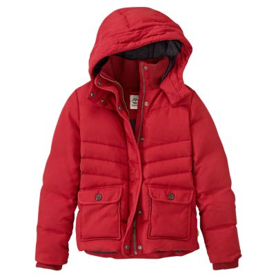 Timberland Womens Mt Moriah Classic Down Coat Red Padded