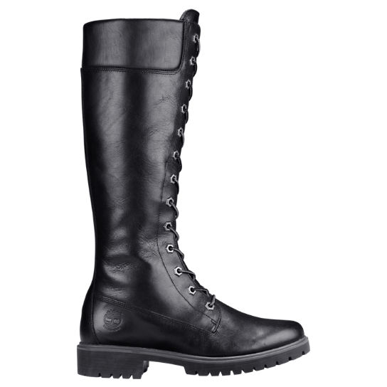 Women's 14-Inch Premium Side-Zip Lace Waterproof Boots