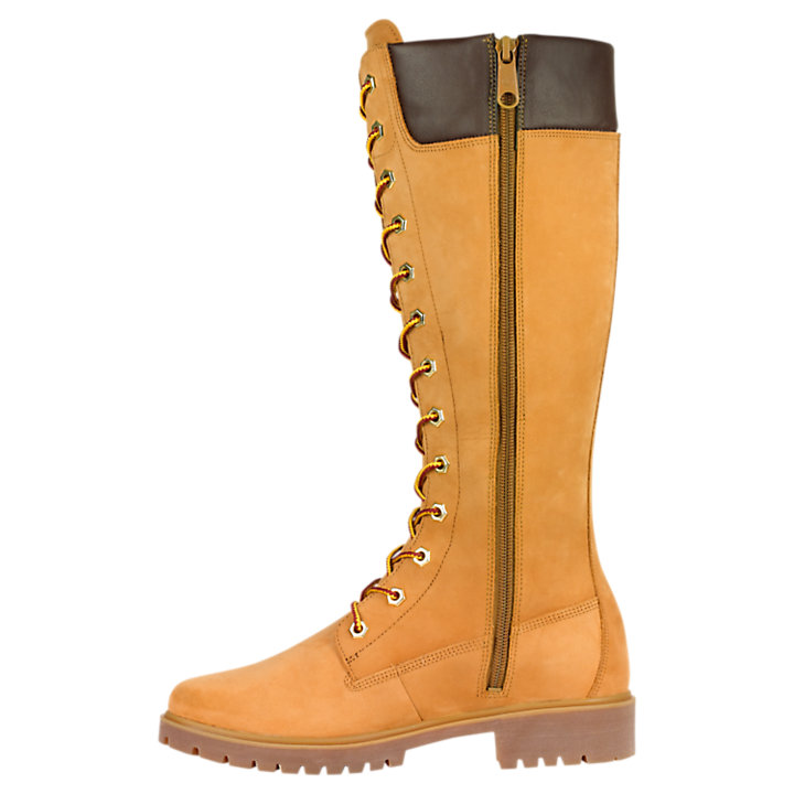 Women's 14-Inch Premium Side-Zip Lace Waterproof Boots-