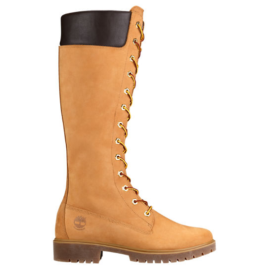 timberland women's 14-inch premium boot-wheat brown