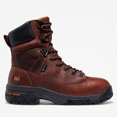 "Men's Timberland PRO® Helix 8"" Comp Toe Work Boots Shoe - Boot Discounts"