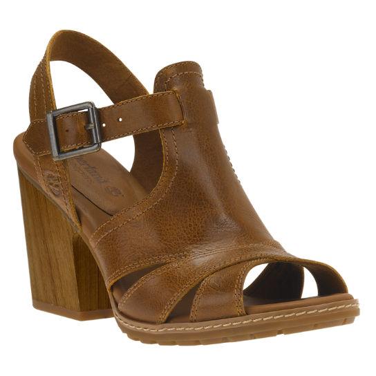 Timberland Strafford Back Strap Sandals Light Brown Full Grain For Women
