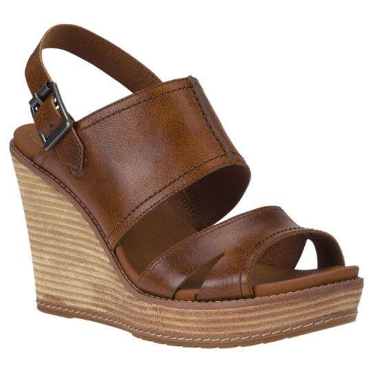 Women's Danforth Backstrap Leather Wedge Sandals