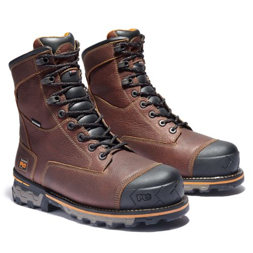 "Men's Timberland PRO® Boondock 8"" Soft Toe Work Boots-"