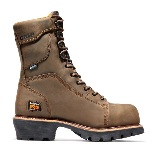 "Men's Timberland PRO® Rip Saw 9"" Comp Toe Logger Boots"