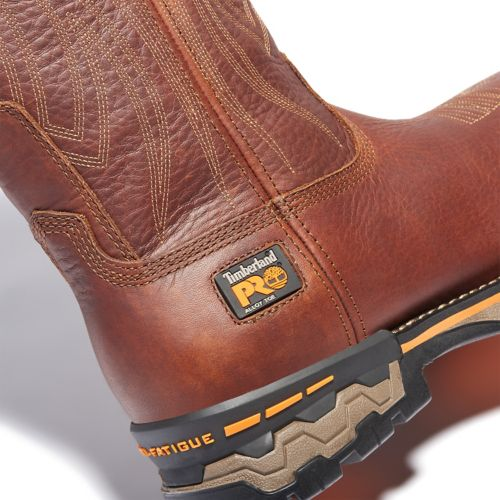 Men's Timberland PRO® AG Boss Square Alloy Toe Pull-On Work Boots-