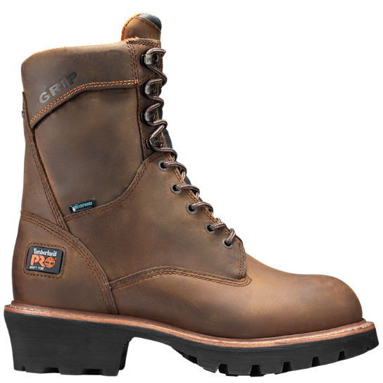 "Men's Timberland PRO® Rip Saw 9"" Soft Toe Logger Boots"