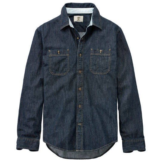 Men's Peabody River Slim Fit Denim Shirt