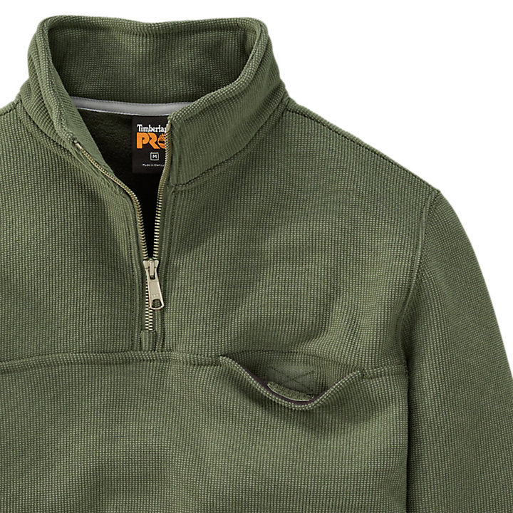 Men's Timberland PRO® Quarter-Zip Textured Fleece Pullover-