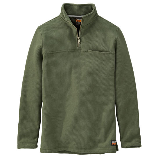 Men's Timberland PRO® Quarter-Zip Textured Fleece Pullover