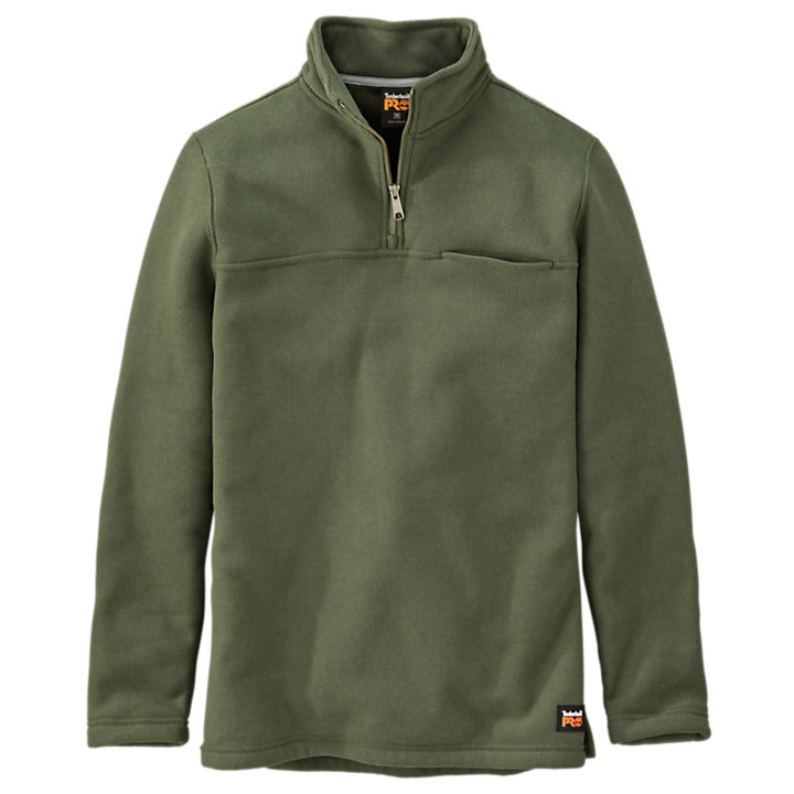 Men's Timberland PRO® Quarter-Zip Textured Fleece Pullover-