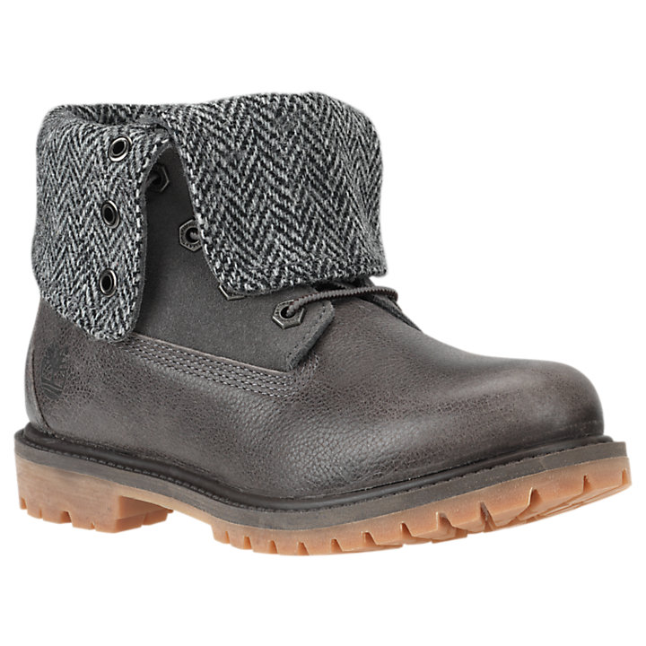 Timberland Women's size 9 tweed & Leather waterproof Lace Up