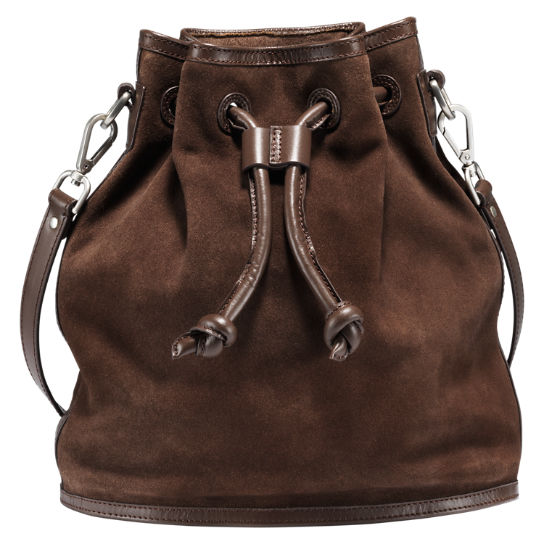 Avery Peak Suede Bucket Bag
