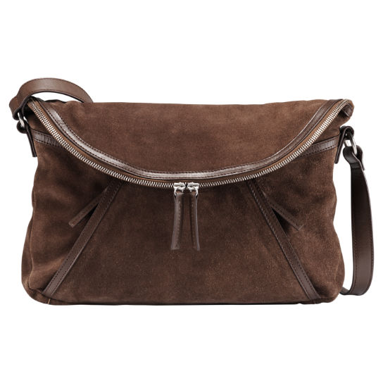Avery Peak Suede Handbag