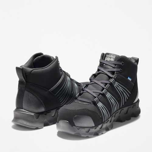 Men's Timberland PRO® Powertrain Alloy Toe ESD Mid Work Boots-