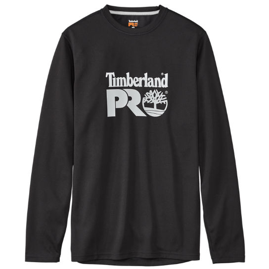 Men's Timberland PRO® Wicking Good Long Sleeve Front Logo T-Shirt
