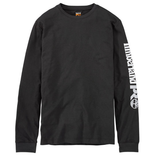 Men's Timberland PRO® Long Sleeve Base Plate Wicking Sleeve Logo T-Shirt