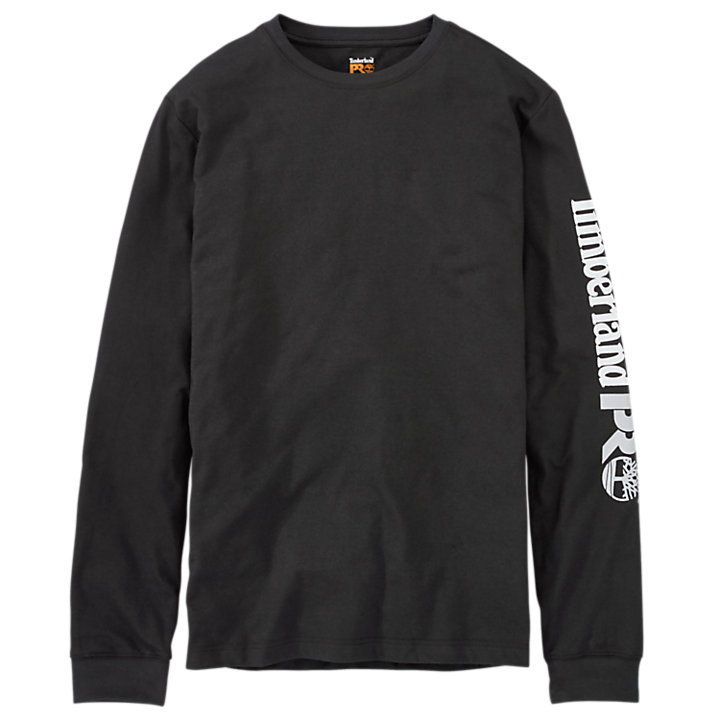 Men's Timberland PRO® Long Sleeve Base Plate Wicking Sleeve Logo T-Shirt-