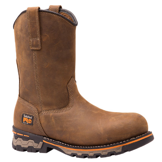 Men's Timberland PRO® AG Boss Round Alloy Toe Unlined Pull-On Work Boots